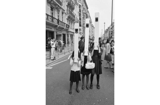Three girls with their wonderful periscopes