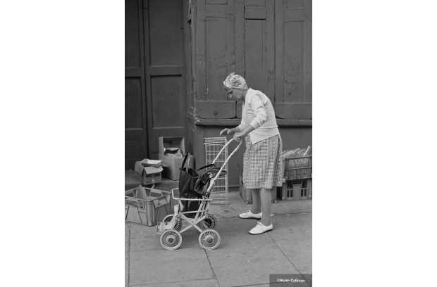 Pre walking frames, older women would use an old push chair or pram to go shoppi