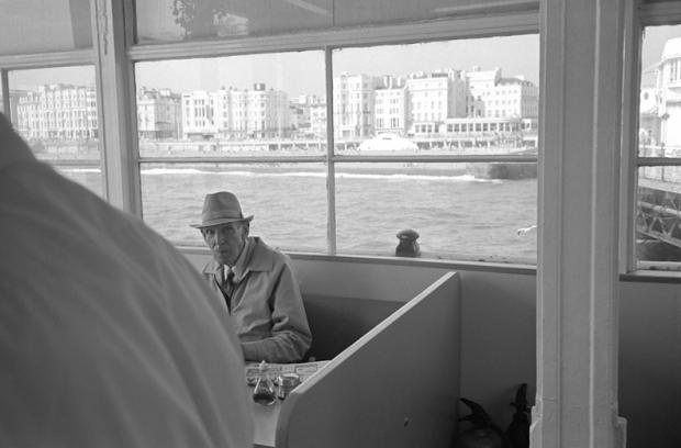 The café on Brighton Pier