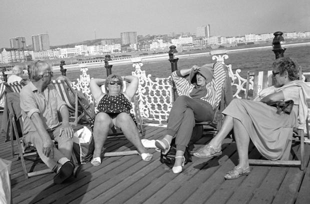 Relaxing on Brighton Pier