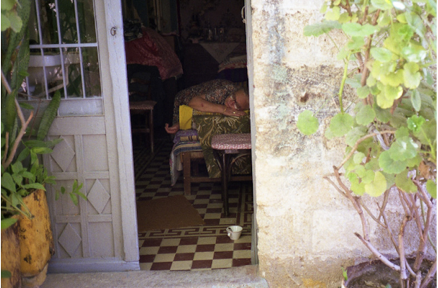 A woman sleeping, Rhodes 1988