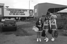 The Sheffield Wednesday FC dancing girls and Gordon Brown